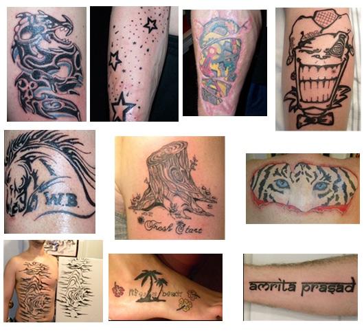 Bradley white tattoo collage
