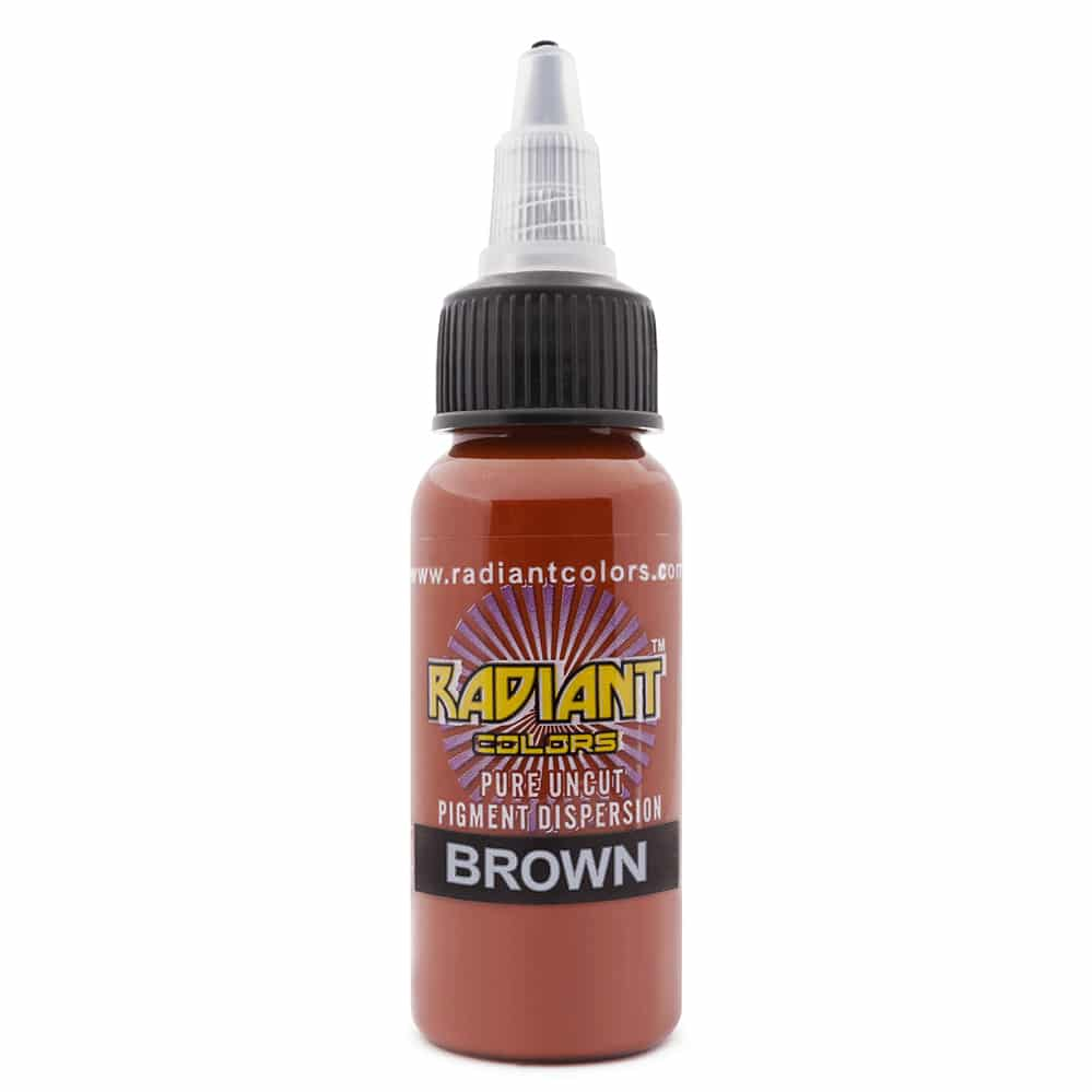 radiant colors tattoo ink brown