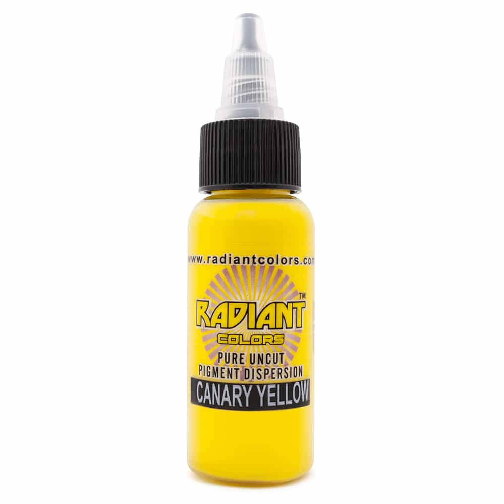 radiant colors tattoo ink canary yellow