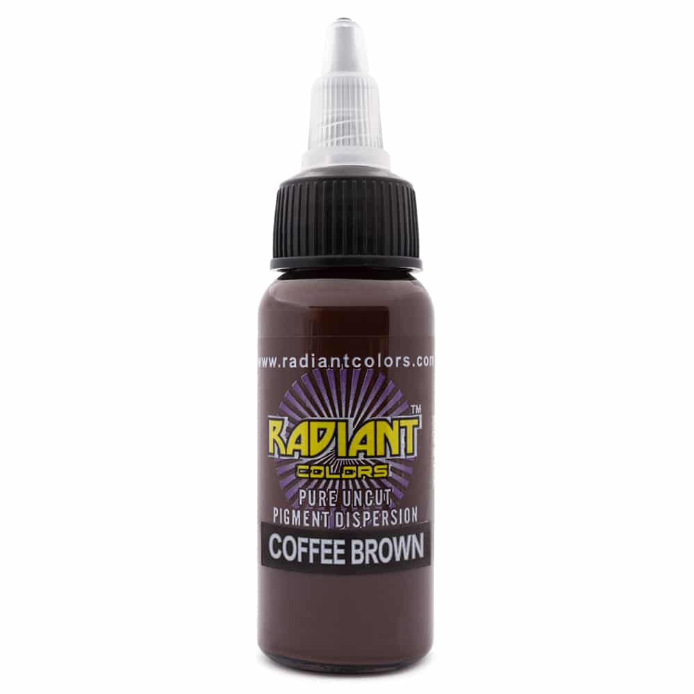 radiant colors tattoo ink coffee brown