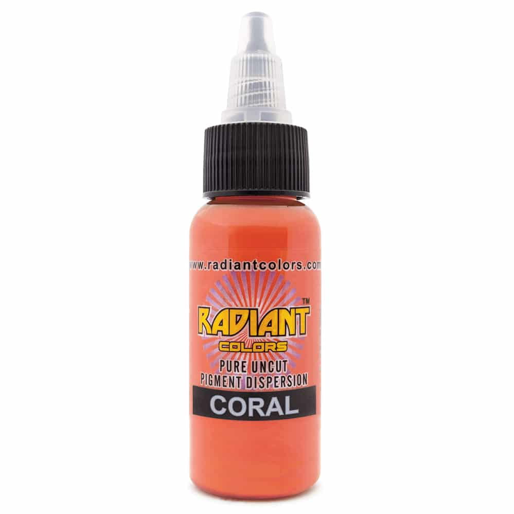 radiant colors tattoo ink coral