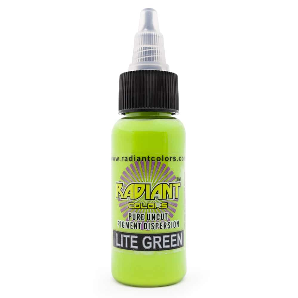 radiant colors tattoo ink lite green