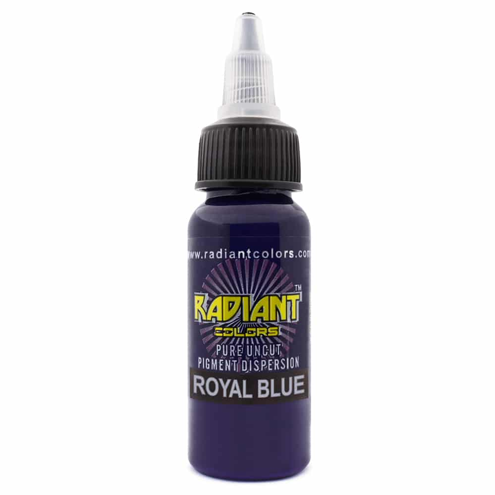 radiant colors tattoo ink royal blue