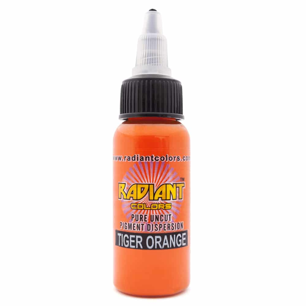 radiant colors tattoo ink tiger orange