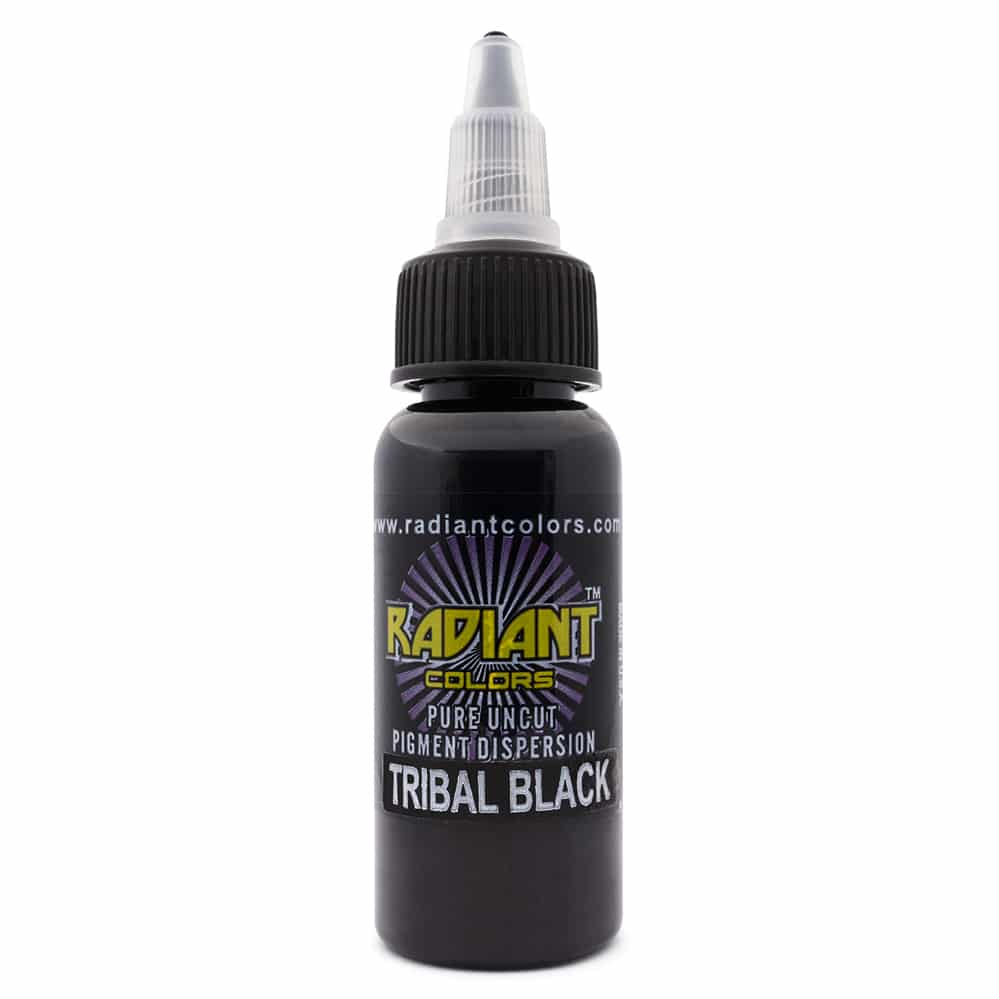 radiant colors tattoo ink tribal black