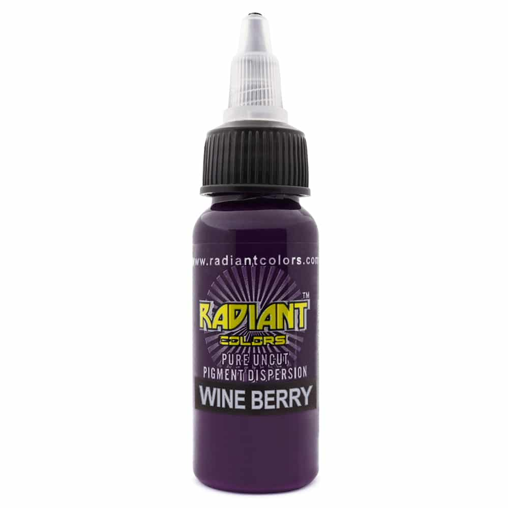 radiant colors tattoo ink wineberry
