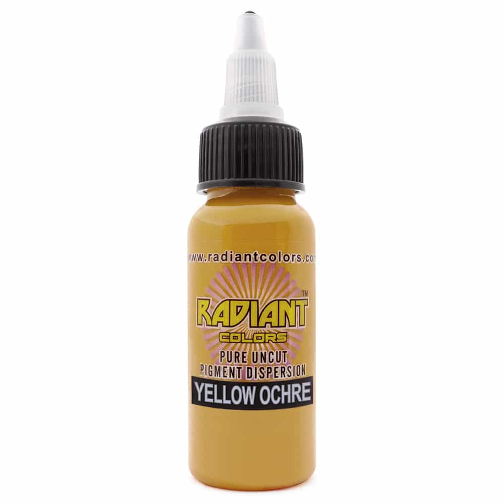 radiant colors tattoo ink yellow ochre