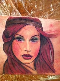 girl tattoo portrait