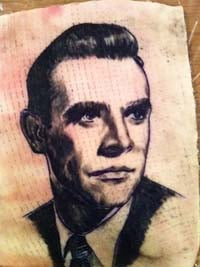Sean Connery Portrait Tattoo