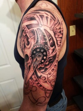 gears bionic tattoo