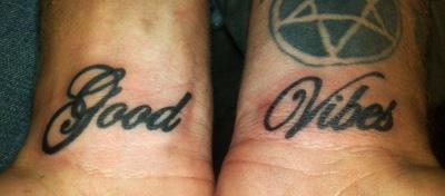 good vibes tattoo