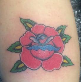 Old American Rose Tattoo