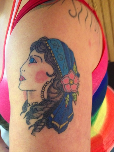 old school sailor girl tattoo x