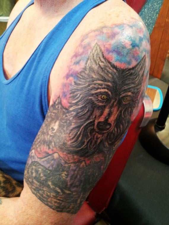 spirit wolf tattoo