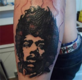 tattoo black guy afro
