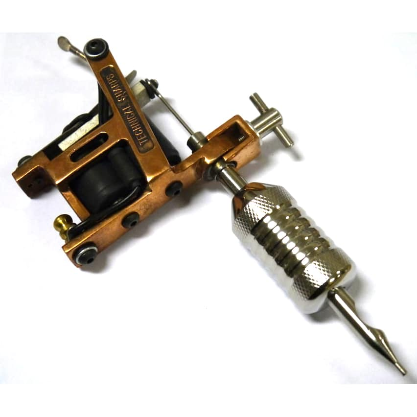 Tts tattoo machines the hybrid in copper with yoke for How to make tattoo gun with pen