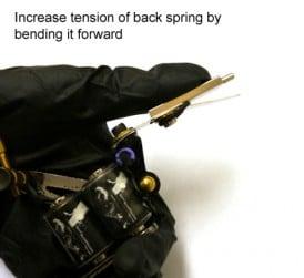 bend tattoo machine backspring