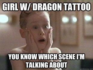 girl with dragon tattoo scene