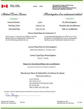 tattoo autoclave license health canada