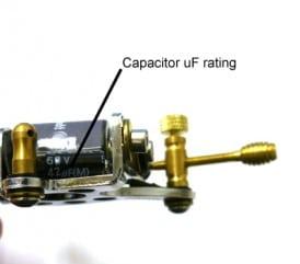 tattoo machine capacitor uf