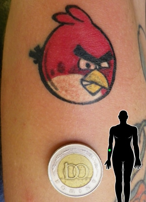 angry birds tattoo