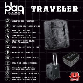 Sullen Blaq Paq Tattoo Luggage Bag 5