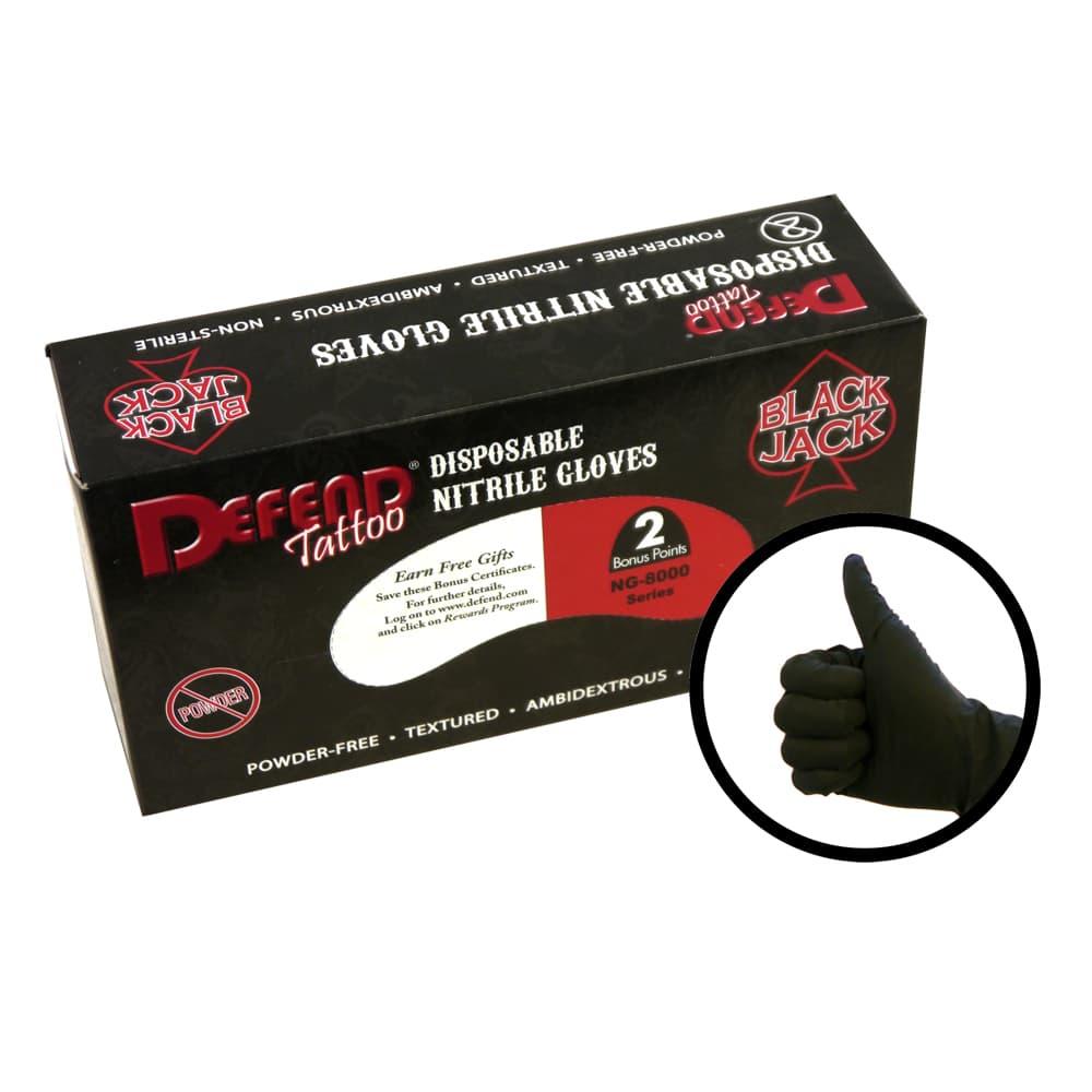 Blackjack Nitrile Tattoo Gloves