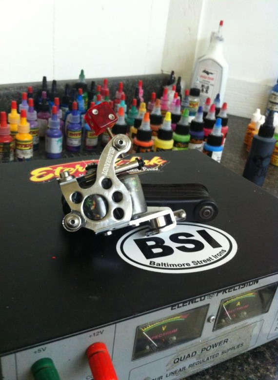 customized Hildbrandt Tattoo machine