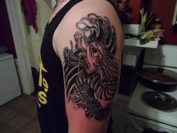 Dragon Tattoo Black Gray