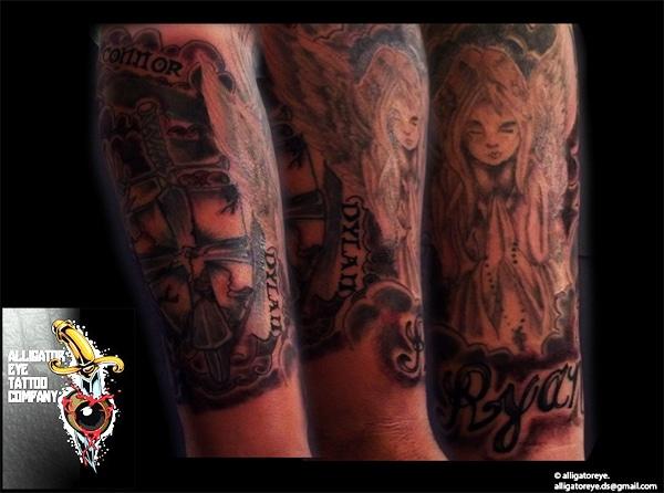 Praying Girl Tattoo