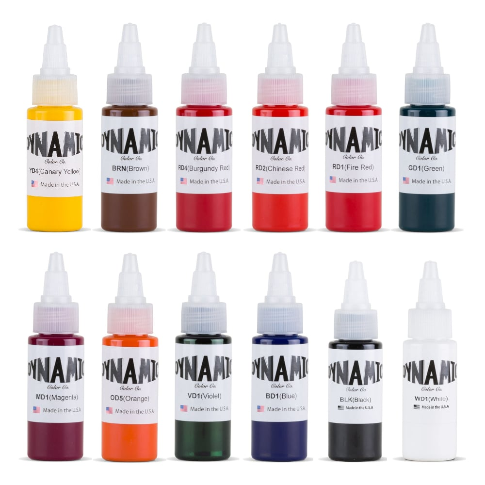 Tattoo Ink Colors >> Tattoo Ink Set Dynamic Color Set 1oz