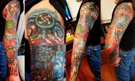 Yoda Biker Collage Tattoo
