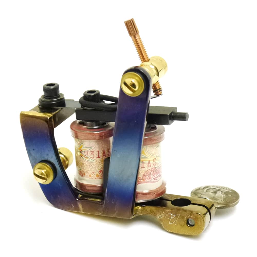 union tattoo machine custom saint used by freddy negrete