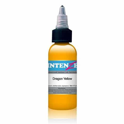 Intenze Tattoo Ink, Dragon Yellow 1oz