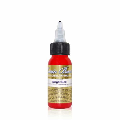 Intenze Tattoo Ink, Mario B. Gold L. 1oz Bright Red