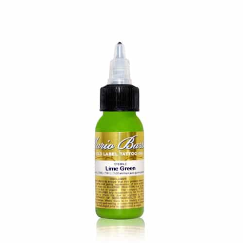 Intenze Tattoo Ink, Mario B. Gold L. 1oz Lime Green