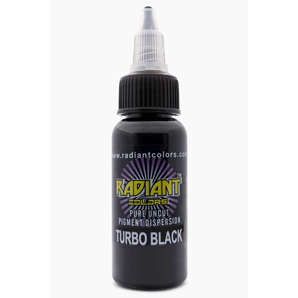radiant colors tattoo ink turbo black