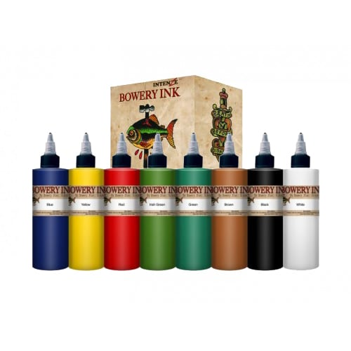 Intenze tattoo ink bowery set 1oz 8 colors for Intenze tattoo ink sets