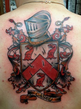 crest emblem tattoo