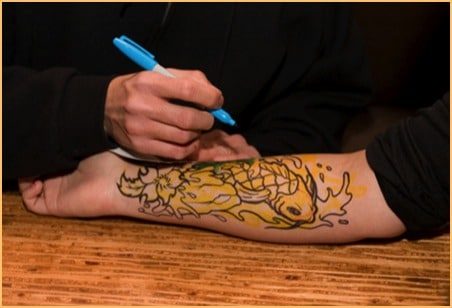 electrum tattoo stencil primer example