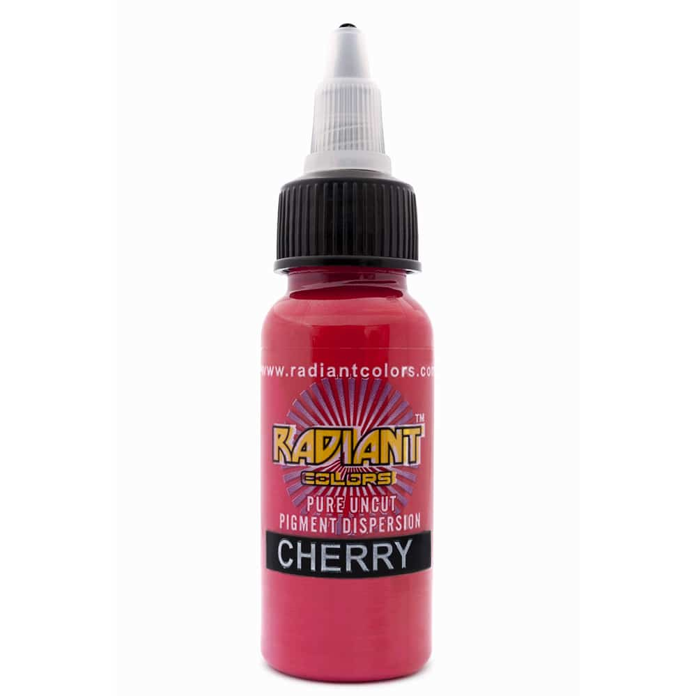 Tattoo ink radiant colors cherry for Tattoo ink color chart