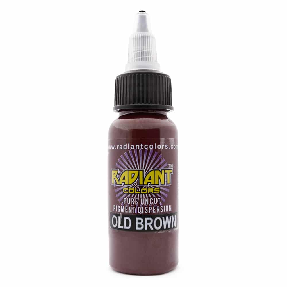 Radiant Colors Tattooing Ink: Old Brown 1/2oz.