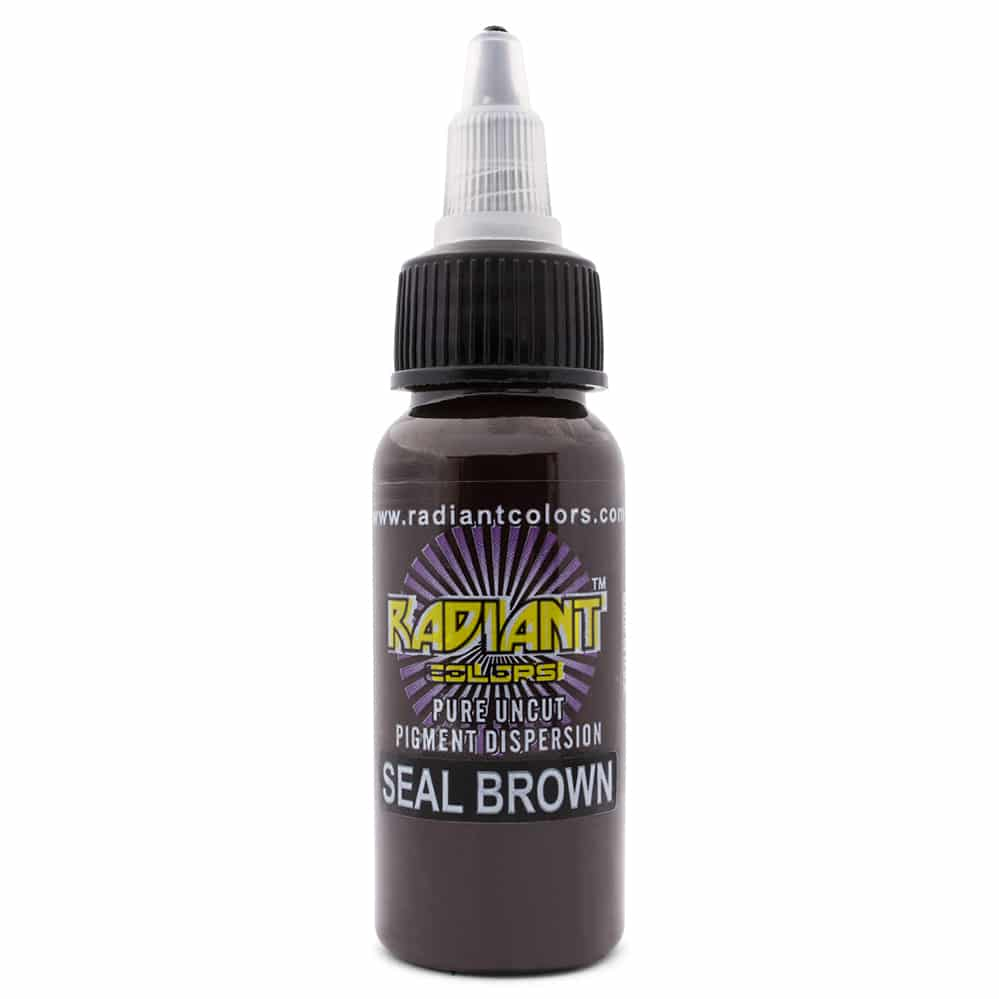 Radiant Colors Tattooing Ink: Seal Brown 1/2oz.