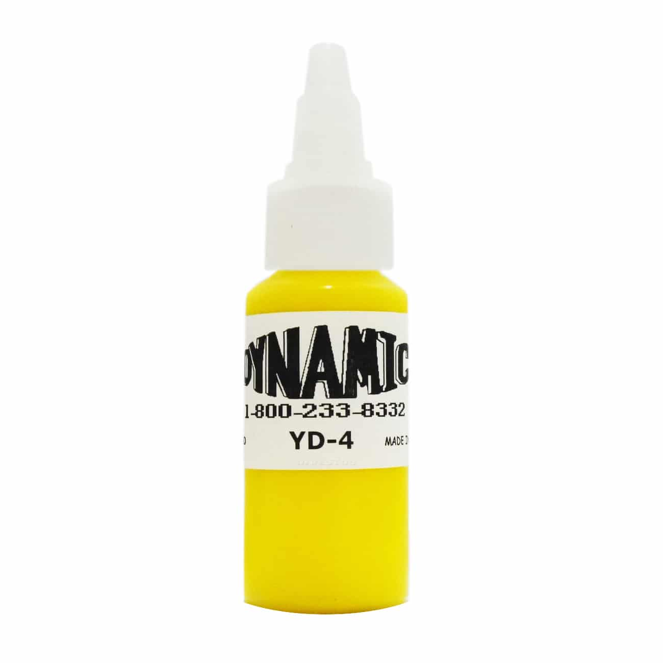 Dynamic Color Tattoo Ink 1oz: Canary Yellow