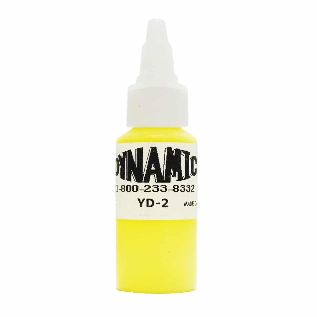Dynamic Color Tattoo Ink 1oz: Lemon Yellow