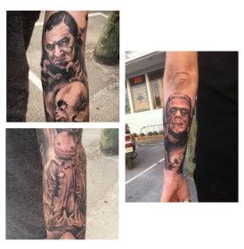 Munsters Tattoo Sleeve 3