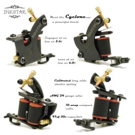 Inkstar Cyclone Tattoo machine Diagram