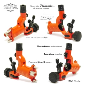 Inkstar Phoenix Rotary Tattoo Machine Diagram S