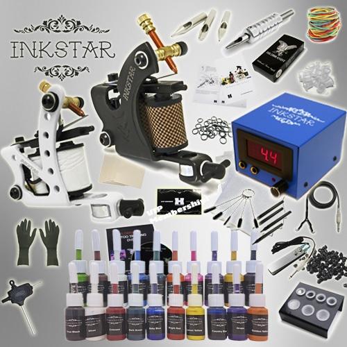 Tattoo kit inkstar journeyman case kit truecolor 20 colors for Tattoo gun kits for sale