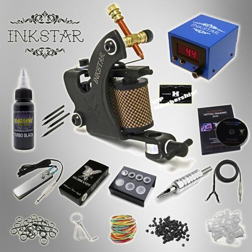 Tattoo kit inkstar venture c kit with radiant black ink for Tattoo gun kits for sale